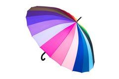 在白色背景隔绝的彩虹伞 图库摄影