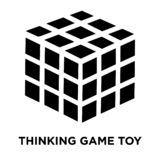 在白色背景隔绝的想法的比赛玩具象传染媒介,商标 向量例证