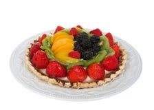 在白色背景隔绝的新鲜的夏天果子馅饼 图库摄影