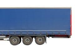 在白色背景隔绝的无盖货车拖车 免版税库存照片