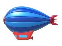 在白色背景隔绝的玩具飞艇 免版税库存照片
