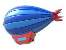 在白色背景隔绝的玩具飞艇 图库摄影