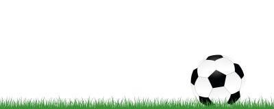 在白色背景隔绝的绿色草甸的橄榄球 向量例证