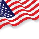 在白色背景隔绝的美国旗子 向量例证