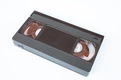 在白色背景隔绝的老VHS录影带卡式磁带 免版税库存照片