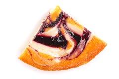 在白色背景隔绝的自创饼 顶视图 平的位置 免版税库存图片