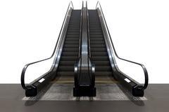 在白色背景隔绝的自动扶梯 正面图 免版税库存图片