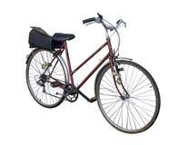 在白色背景隔绝的自行车 免版税库存照片