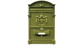 在白色背景隔绝的邮箱 免版税库存图片