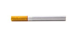 在白色背景隔绝的一根香烟 免版税图库摄影