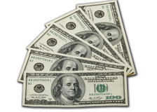 金钱100个美金 免版税图库摄影