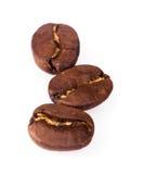被隔绝的Coffe豆 免版税库存照片
