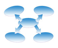 在白色背景隔绝的业务模式的几何形状 库存图片