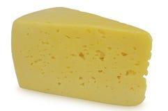 在白色背景隔绝的乳酪一件 图库摄影