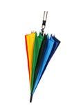 在白色背景隔绝的五颜六色的伞 免版税库存照片