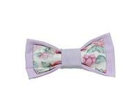 在白色背景隔绝的五颜六色的手工制造蝶形领结 花 免版税库存照片
