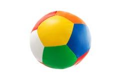 在白色背景隔绝的五颜六色的球玩具 库存图片