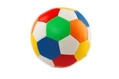 在白色背景隔绝的五颜六色的球玩具 免版税库存图片
