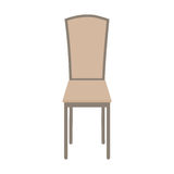 在白色背景隔绝的传染媒介木椅子 图库摄影