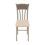 在白色背景隔绝的传染媒介木椅子 免版税库存照片