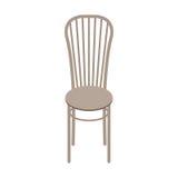 在白色背景隔绝的传染媒介木椅子 免版税库存图片