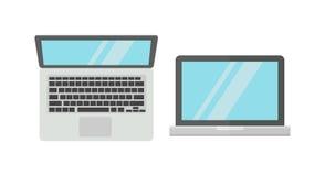 在白色背景隔绝的便携式计算机 免版税库存照片