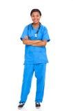 非裔美国人的护士 免版税库存图片