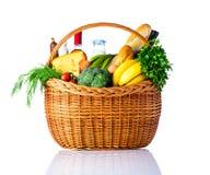 在白色背景隔绝的健康食物 库存照片