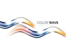 在白色背景隔绝的光滑的波浪 库存图片