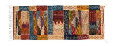 在白色背景隔绝的典型的东方巴巴里人地毯 图库摄影