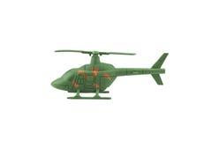 在白色背景隔绝的军用直升机 免版税库存图片