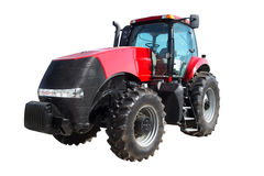 在白色背景隔绝的农用拖拉机 免版税库存图片