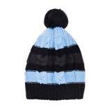 在白色背景隔绝的冬天盖帽 免版税库存照片
