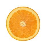 在白色背景隔绝的切片桔子 免版税图库摄影