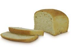 在白色背景隔绝的切的面包砖  库存照片