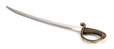 在白色背景隔绝的剑!! 库存照片