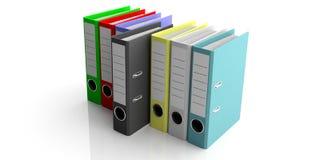 在白色背景隔绝的办公室文件夹 3d例证 免版税库存图片