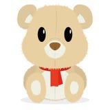 在白色背景隔绝的动画片逗人喜爱的熊 向量例证