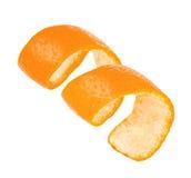 在白色背景隔绝的卷毛橙皮 免版税图库摄影