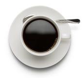 在白色背景隔绝的咖啡杯 免版税库存图片