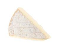 在白色背景隔绝的咸味干乳酪乳酪 库存图片