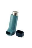 在白色背景隔绝的哮喘吸入器 免版税库存图片