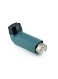 在白色背景隔绝的哮喘吸入器 库存照片
