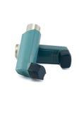 在白色背景隔绝的哮喘吸入器 图库摄影