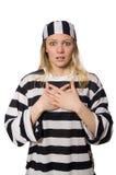 在白色背景隔绝的囚犯 免版税库存图片