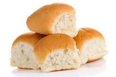 白色小圆面包 免版税库存照片