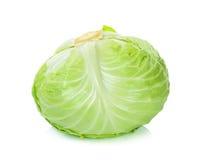 在白色背景隔绝的圆白菜 免版税库存照片