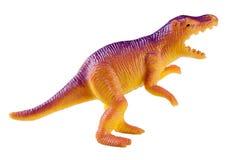 在白色背景隔绝的塑料恐龙玩具 库存图片
