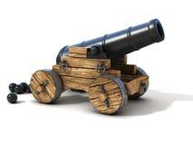 在白色背景隔绝的大炮 免版税图库摄影