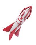 在白色背景隔绝的太空飞船 3d回报image.colorful圆筒 免版税库存图片